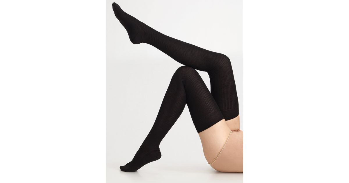 de17558046d Maria La Rosa Cashmere Silk Thigh high Opaque Stockings in Black - Lyst
