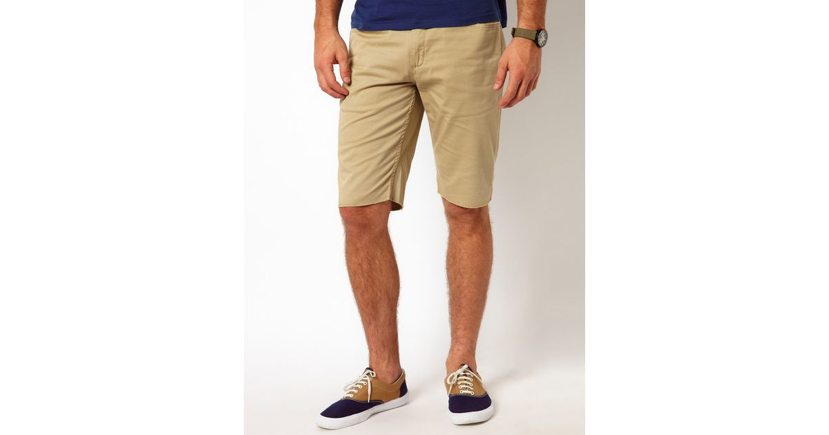 Vans Chino Shorts Covina Washed Twill in Natural for Men | Lyst