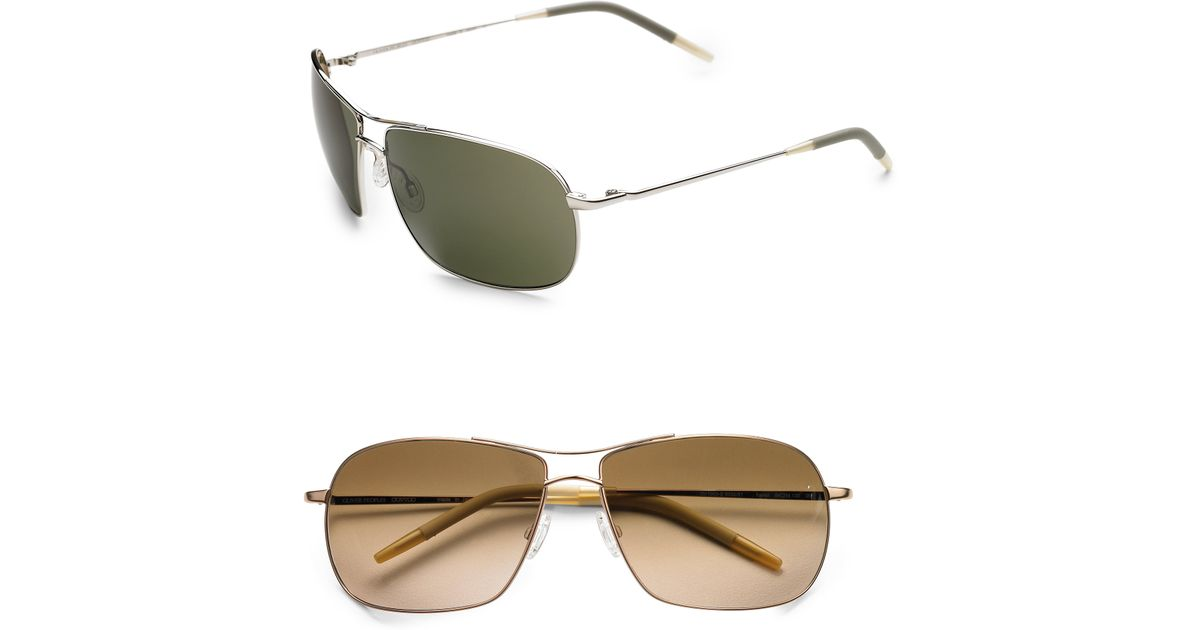 6ae096bc9c7 Lyst - Oliver Peoples Farrell Aviator Sunglasses in Metallic for Men