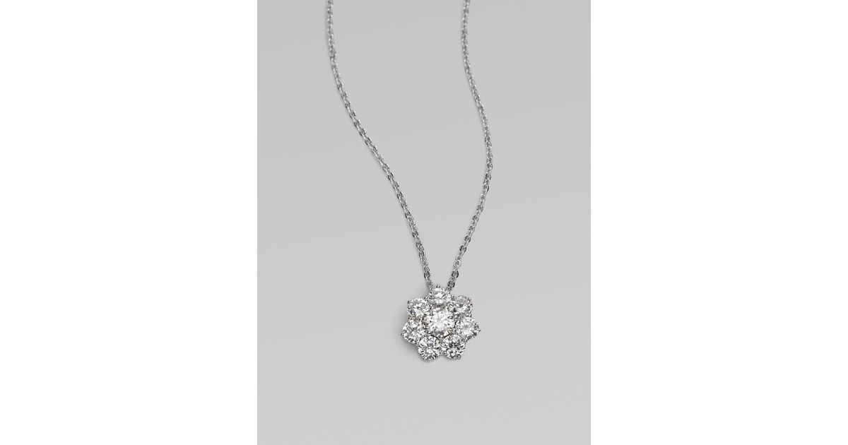 Lyst adriana orsini sterling silver flower pendant necklace in lyst adriana orsini sterling silver flower pendant necklace in metallic aloadofball Choice Image