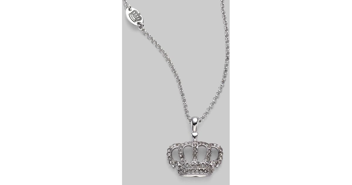 Lyst juicy couture crown necklace in metallic aloadofball Gallery