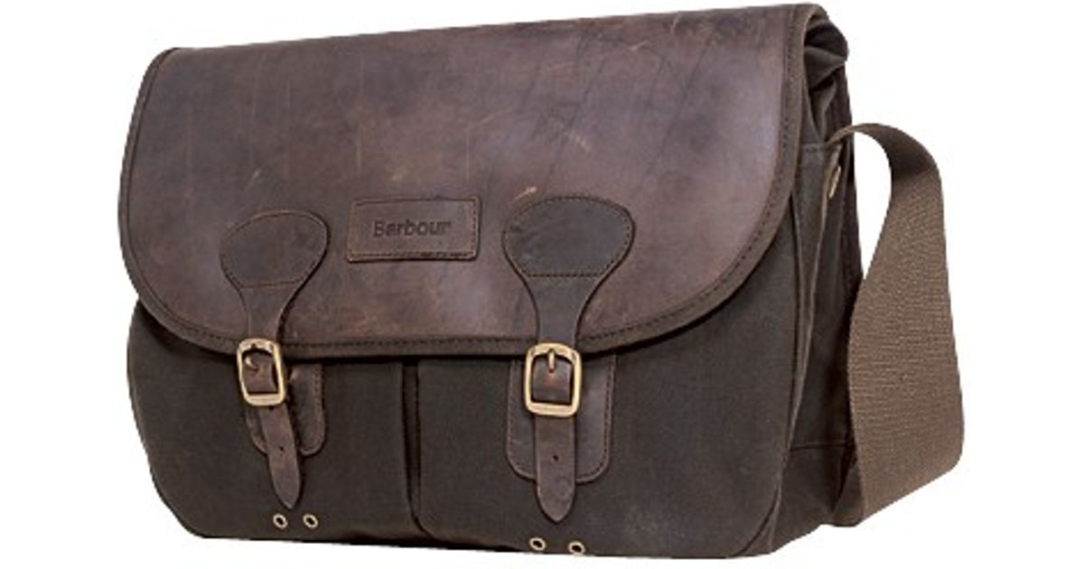 571c6161728 Barbour Waxed Cotton Bag in Brown for Men - Lyst