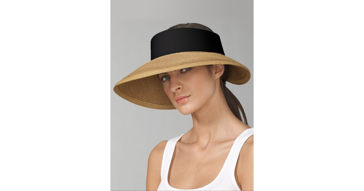 d42c81bcccb95a Eric Javits Halo Visor in Natural - Lyst