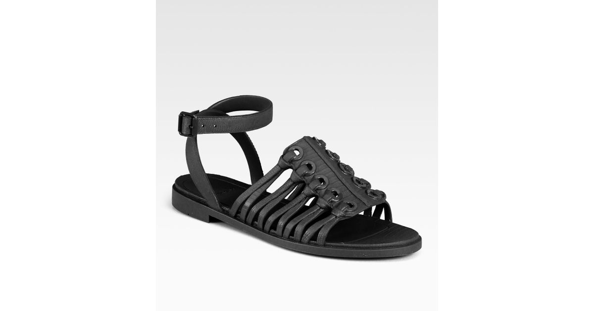 2d53ce603ed0 Lyst - Givenchy Jelly Ankle Strap Sandals in Black