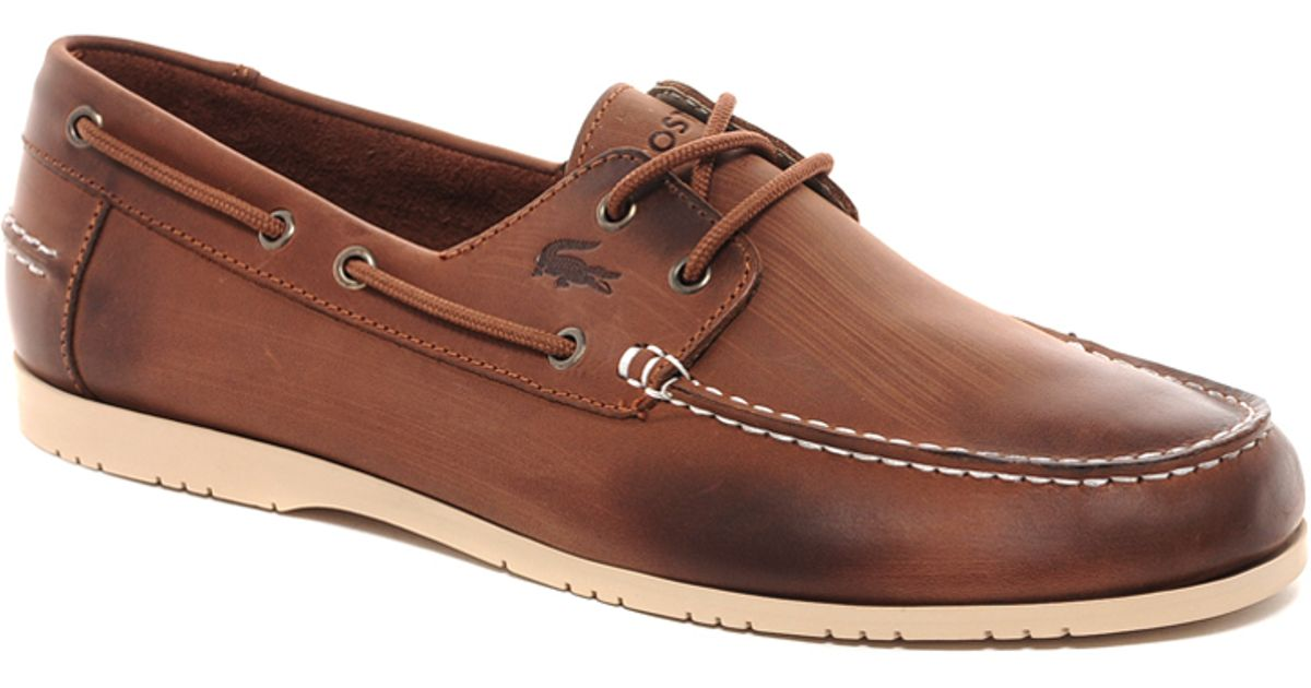 5e7e00940 Lyst - Lacoste Corbon Boat Shoes in Brown for Men