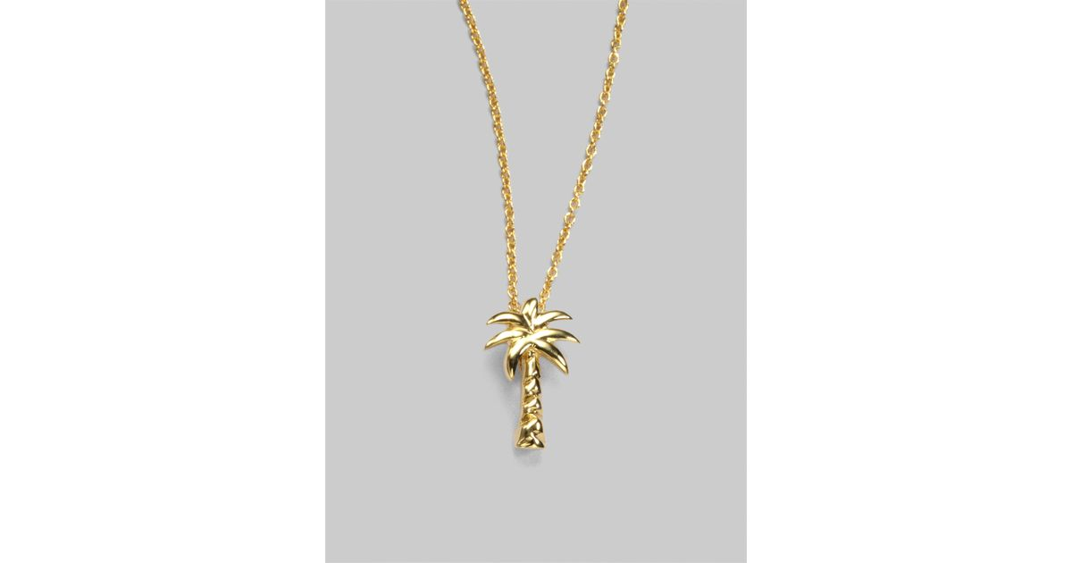 Lyst roberto coin tiny treasures 18k yellow gold palm tree pendant lyst roberto coin tiny treasures 18k yellow gold palm tree pendant necklace in metallic mozeypictures Choice Image