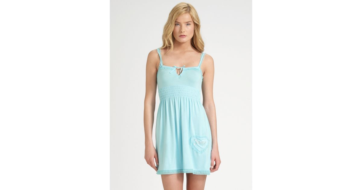 Lyst - Juicy Couture Tulletrimmed Nightie in Blue