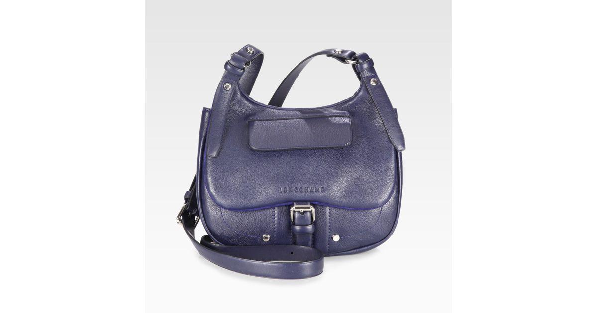 e7025eb6e9a Lyst - Longchamp Balzane Small Flap Cross Body Bag in Blue