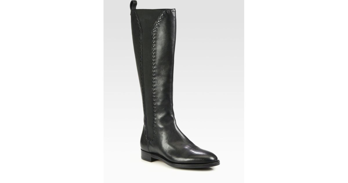 free shipping release dates Yves Saint Laurent Leather Knee-High Boots buy cheap extremely Eoleu48Ub