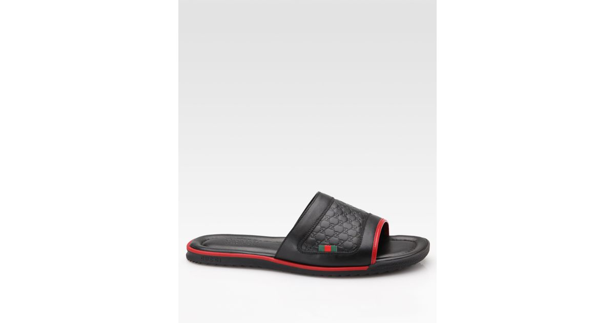 adc95b8a23f1 Lyst - Gucci Sandal in Black for Men