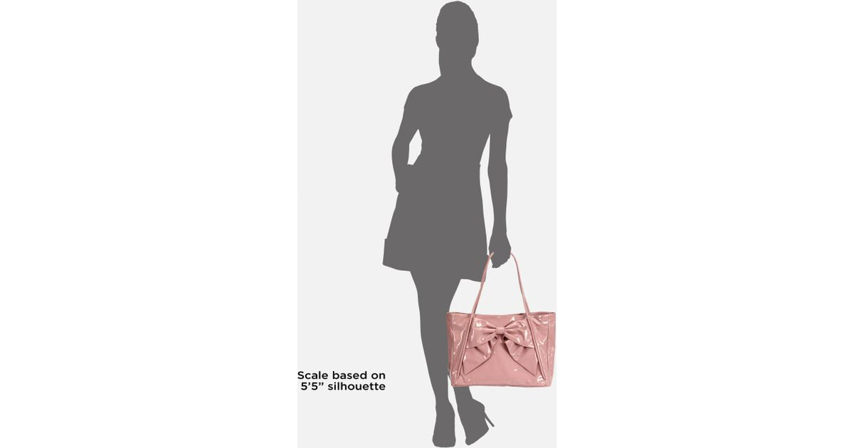 725d5345a1db Lyst - Valentino Betty Patent Leather Bow Tote in Pink