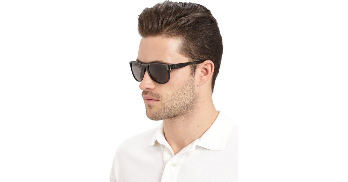 dd07110ab005 Balmain Aviator Metal Acetate Sunglassesblack Grey in Black for Men - Lyst