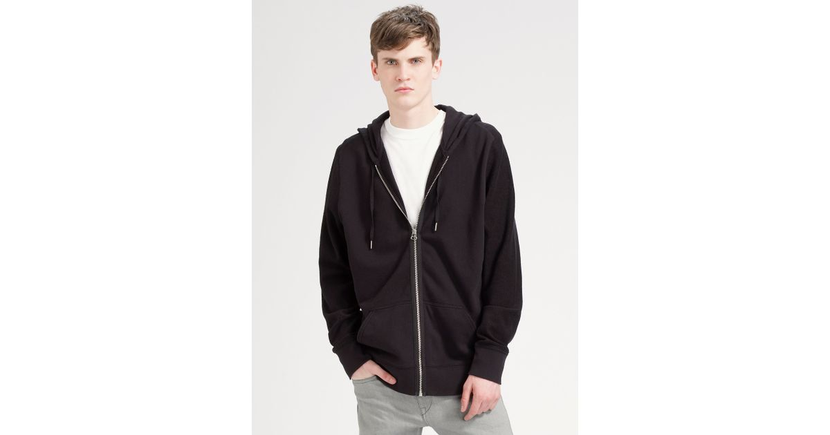 3a90a37eb7ef Lyst - T By Alexander Wang Zip Hooded Sweatshirt in Gray for Men