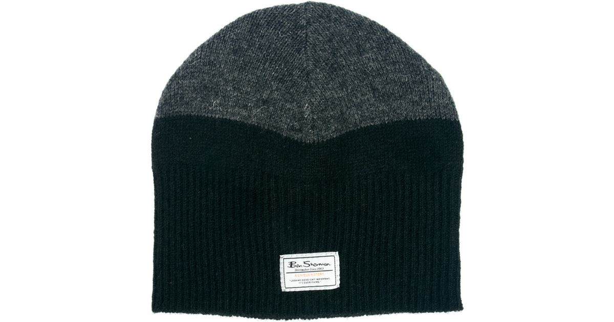 588a8deea04 Lyst - Ben Sherman Split Beanie in Black for Men