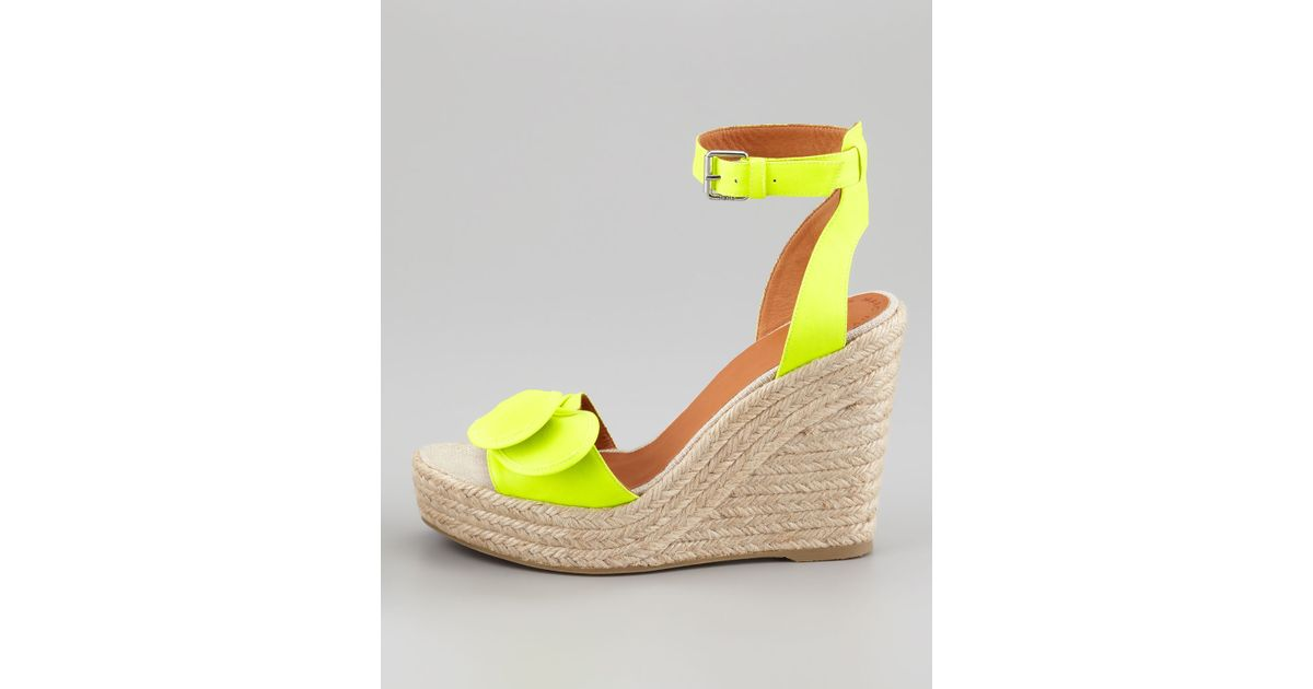 f433b17582 Lyst - Marc By Marc Jacobs Pretty Knot Neon Canvas Wedge Sandal in Yellow