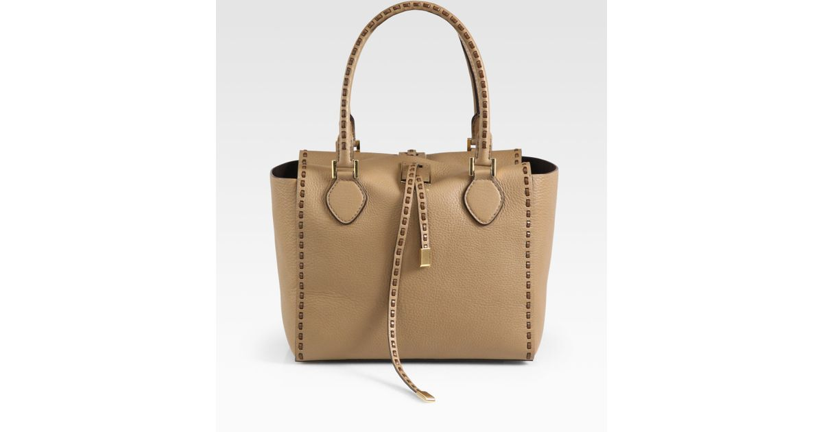db587a27bd MICHAEL Michael Kors Miranda Whipstitched Tote in Brown - Lyst