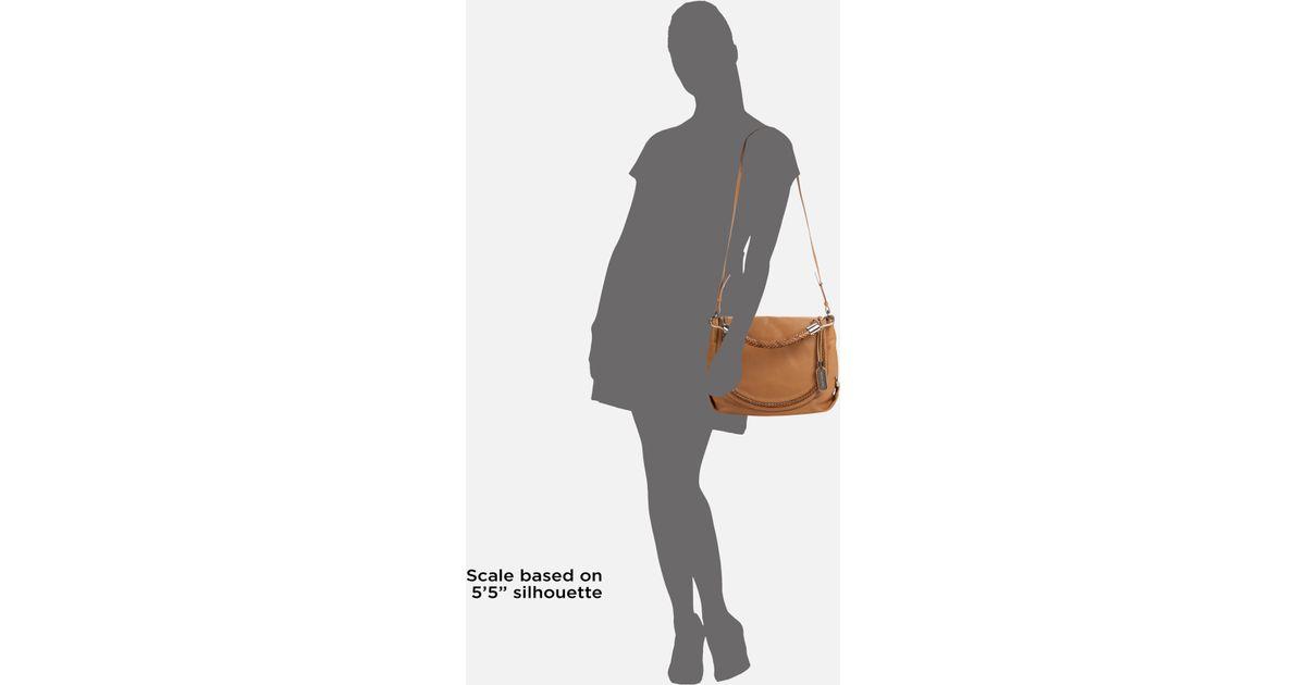 546d8c1e4bdc ... Desert Clemi Michael kors Skorpios Flap Leather Shoulder Bag in Brown  Ly ...