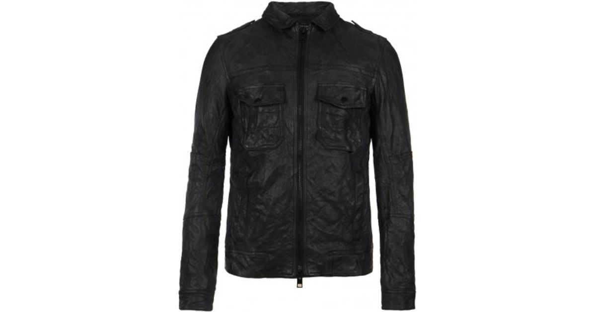 Leather bomber jacket all saints