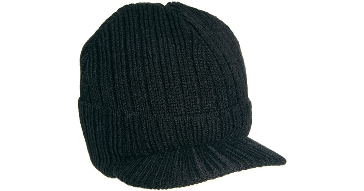 6fd78d39988104 Lyst - Bench Peaked Beanie in Black for Men