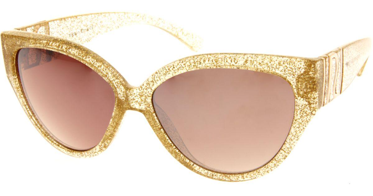 655ed9c64e3 Lyst - River Island Claudine Cateye Sunglasses in Metallic