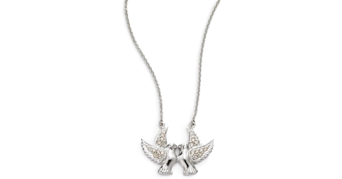 Lyst sydney evan diamond kissing sparrow pendant necklacewhite lyst sydney evan diamond kissing sparrow pendant necklacewhite gold in white aloadofball Images