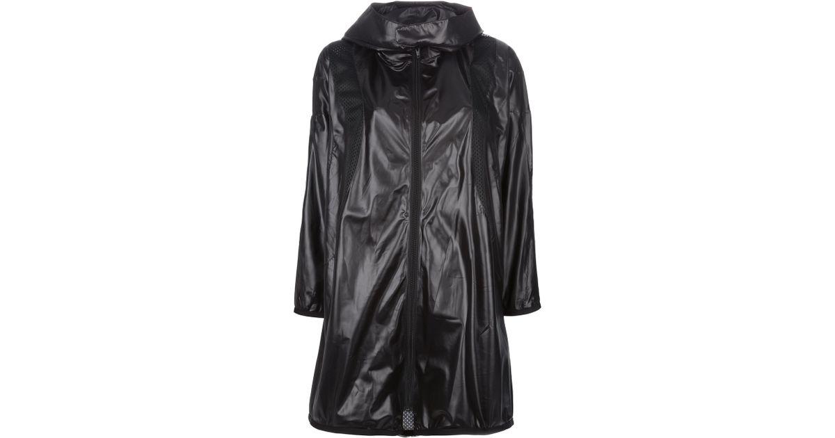Junya Watanabe Oversized Hooded Rain Coat In Black Lyst