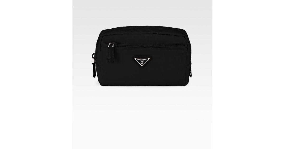 prada leather zip pouch