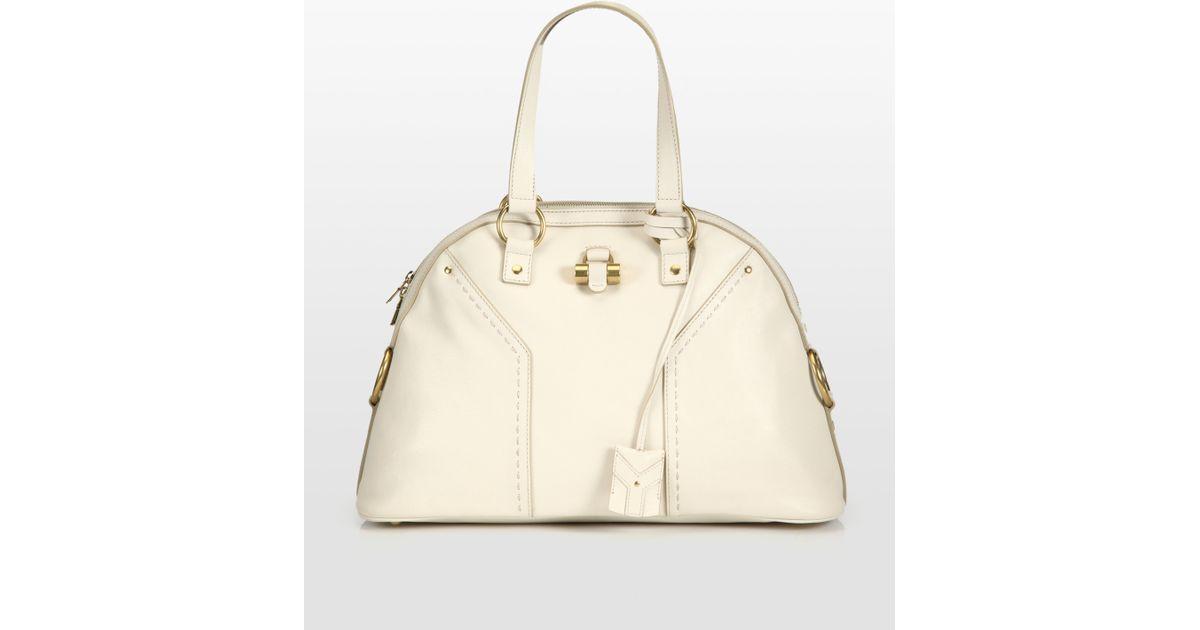 0bddbb642ac5 Lyst - Saint Laurent Ysl Large Muse Handbag in Natural