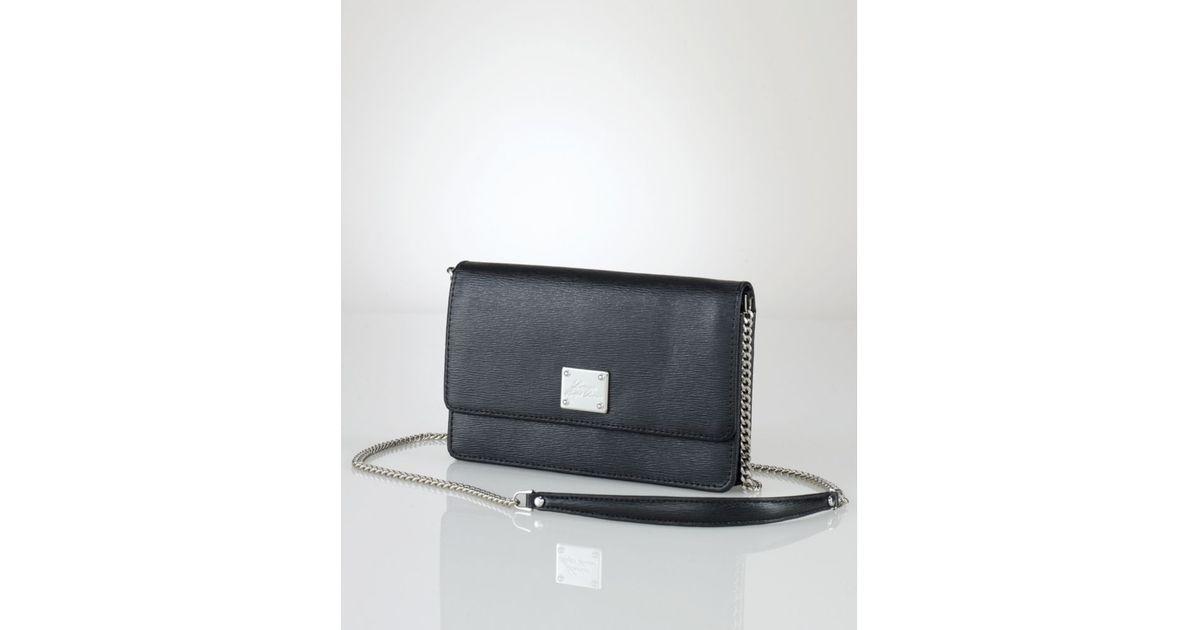 Lyst - Lauren by Ralph Lauren Newbury Mini Crossbody Bag in Black 895b045647