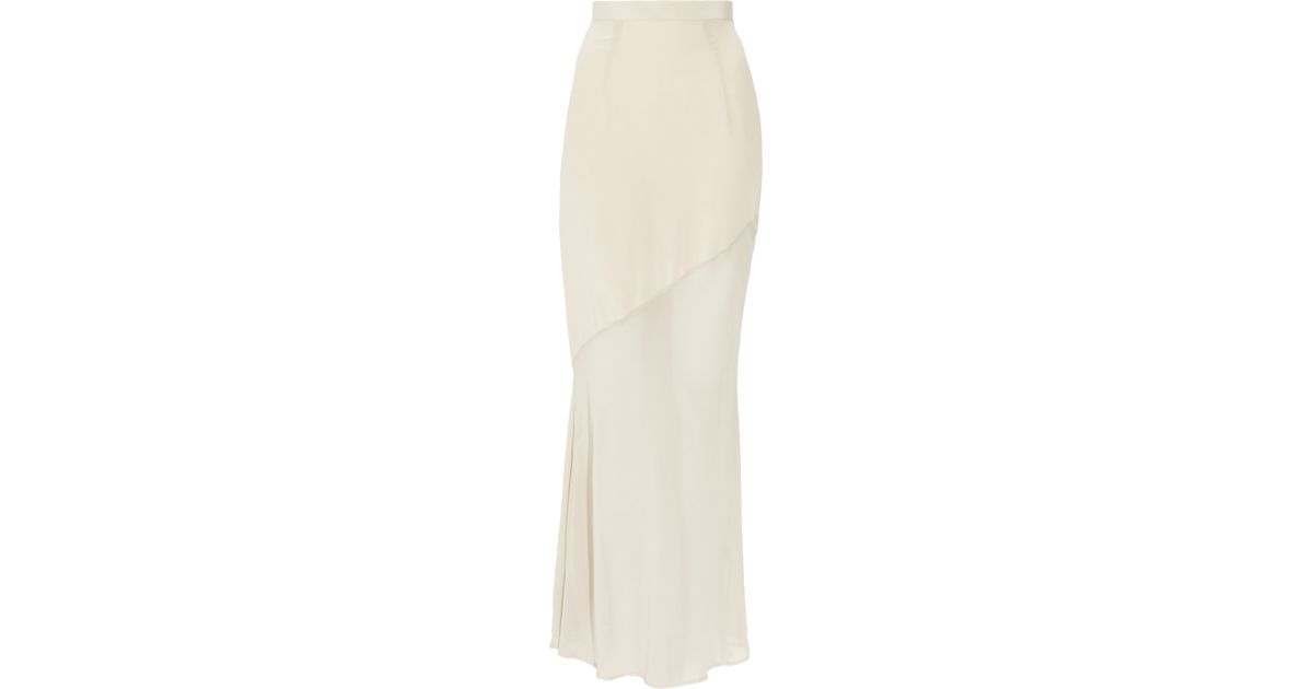 d57c06c83e03e Lyst - Kain Maren Washedsilk and Chiffon Maxi Skirt in Natural