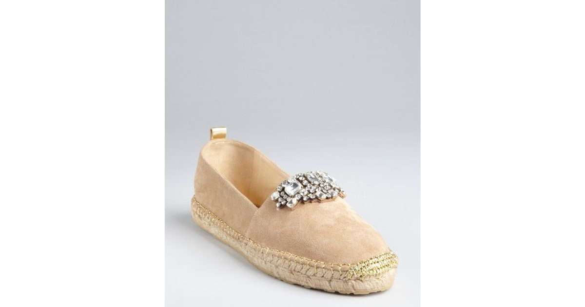 Jimmy Choo Embellished Suede Espadrilles buy cheap recommend CQFveMVQ6b