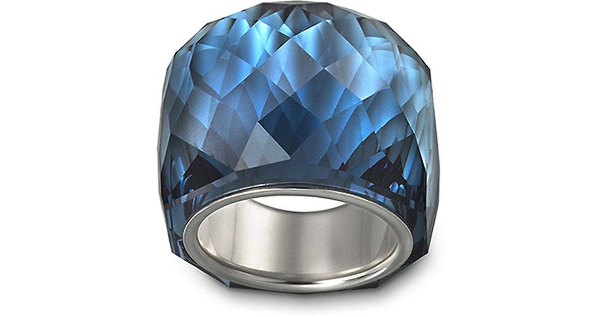 370c853ca Swarovski Nirvana Montana Crystal Ring in Blue - Lyst