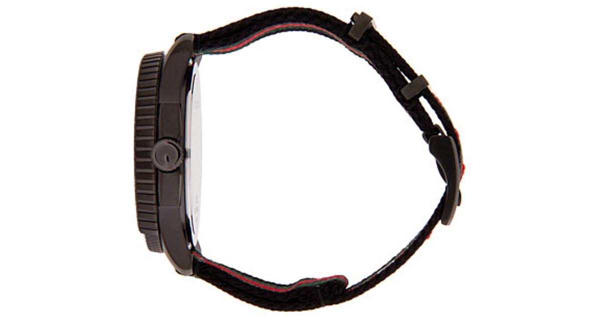 14158fc54b4 Lyst - Gucci G-timeless 40mm Nylon Strap Watch-ya126229 in Black for Men