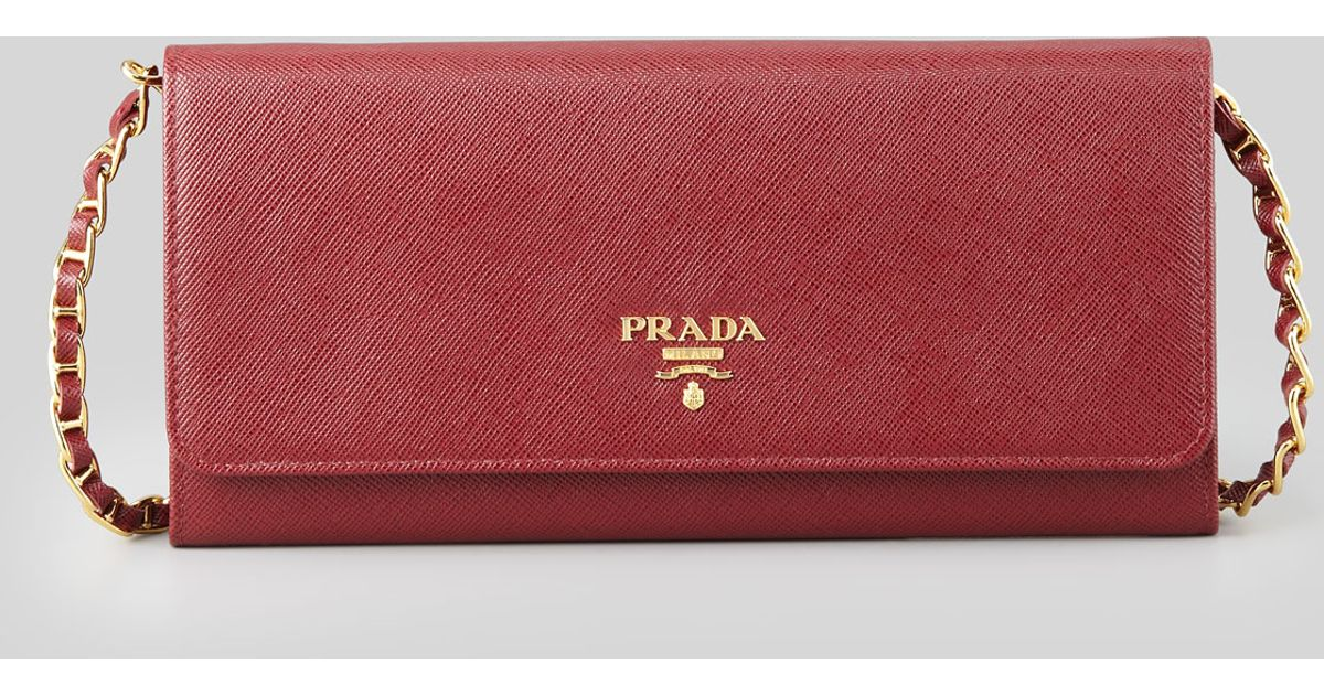 prada wallet purple