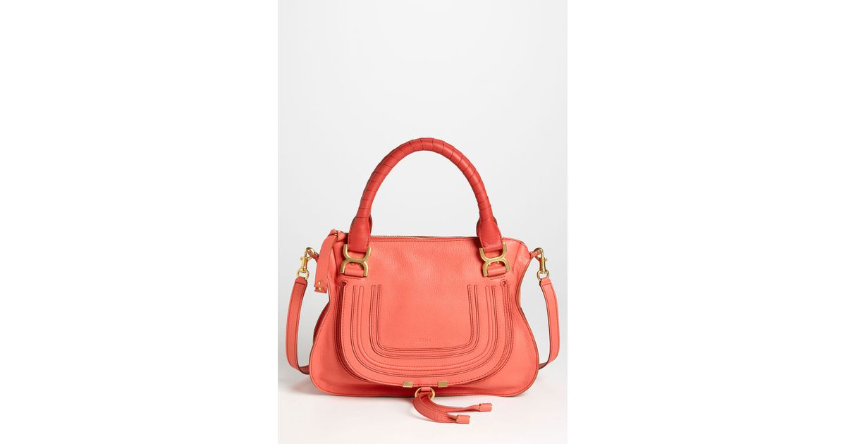 Chlo¨¦ Marcie Small Leather Satchel in Pink (paradise pink) | Lyst
