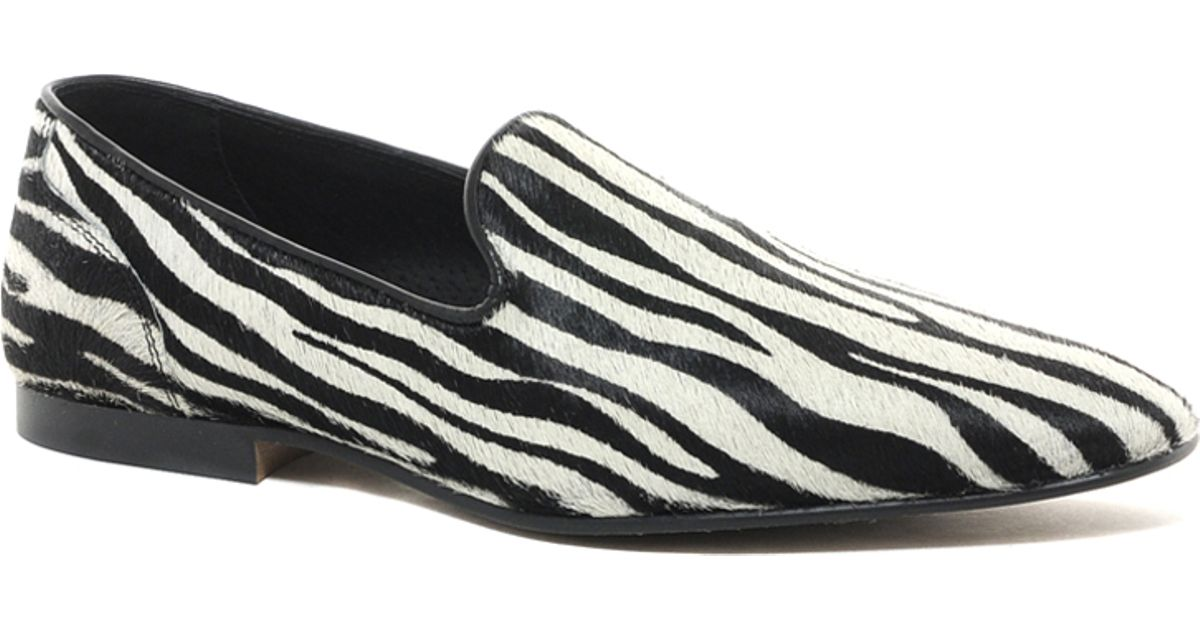 34c2c74978 Lyst - ASOS Loafers with Zebra Print in Black for Men