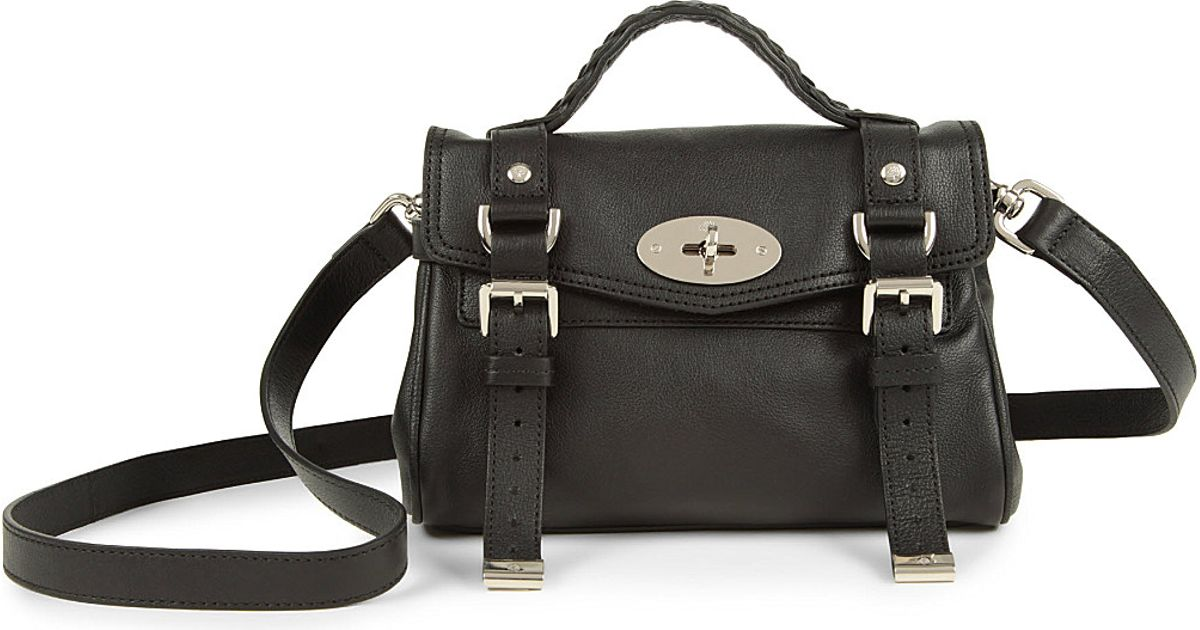40c72faf8e Mulberry Mini Alexa Satchel Bag - For Women in Black - Lyst