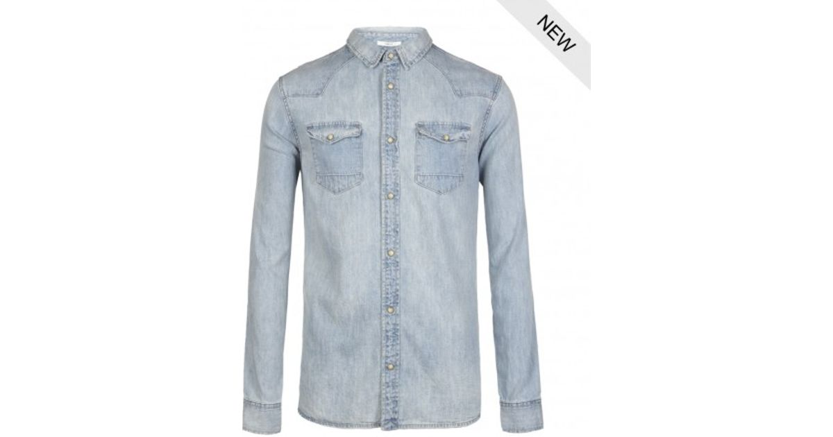 9acbdb9231 Lyst - AllSaints Cannon Shirt in Blue for Men