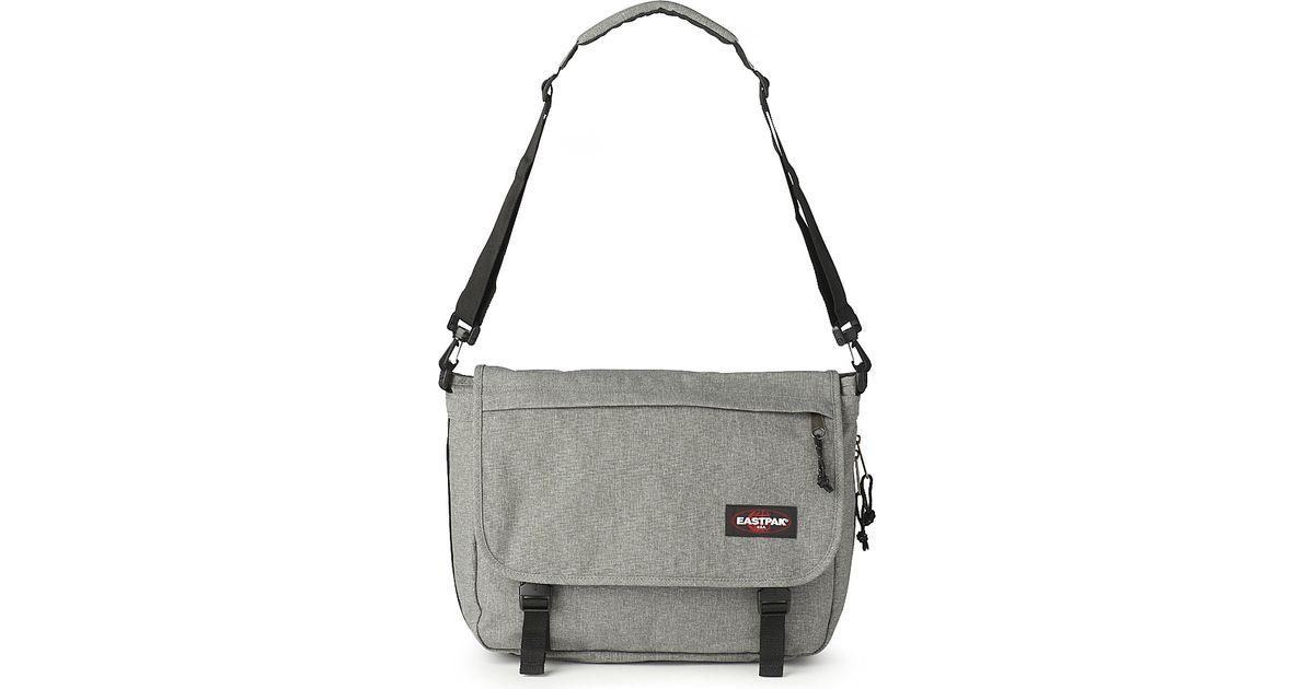 3d9f3bb1289 Eastpak Delegate Messenger Bag in Gray for Men - Lyst