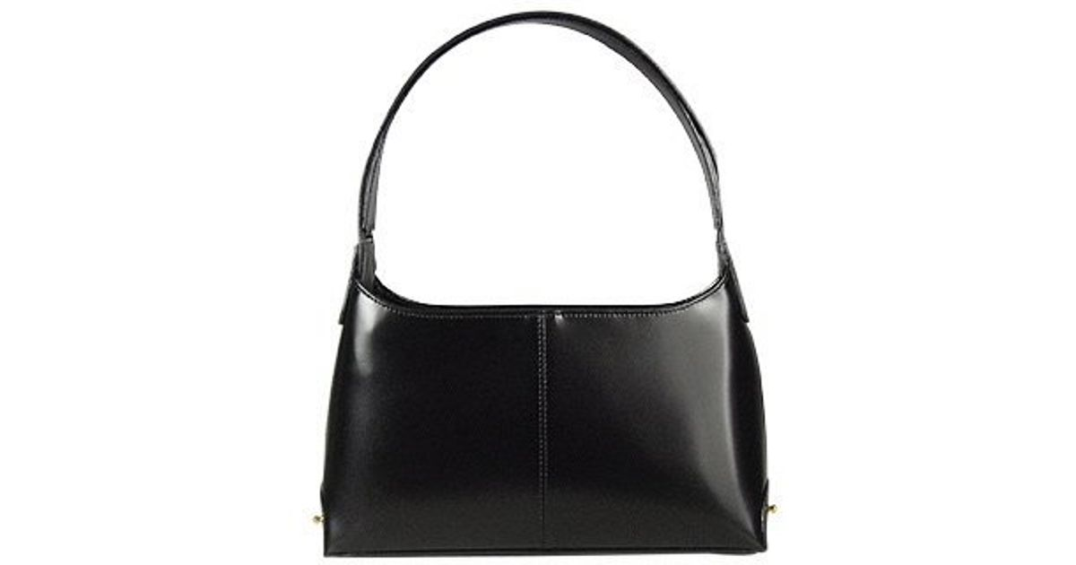 6442ff2a9ef86 Fontanelli Classy Black Italian Leather Handbag in Black - Lyst