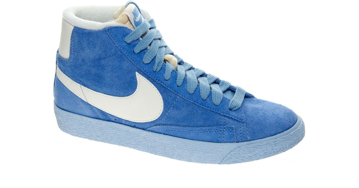 f14257d3ebc4b ... vintage w shoes grey womens high top trainers so55466306 6xk40gpbdrqgwu  d5040 70d63  best price lyst nike blazer mid blue suede high top trainers  in ...