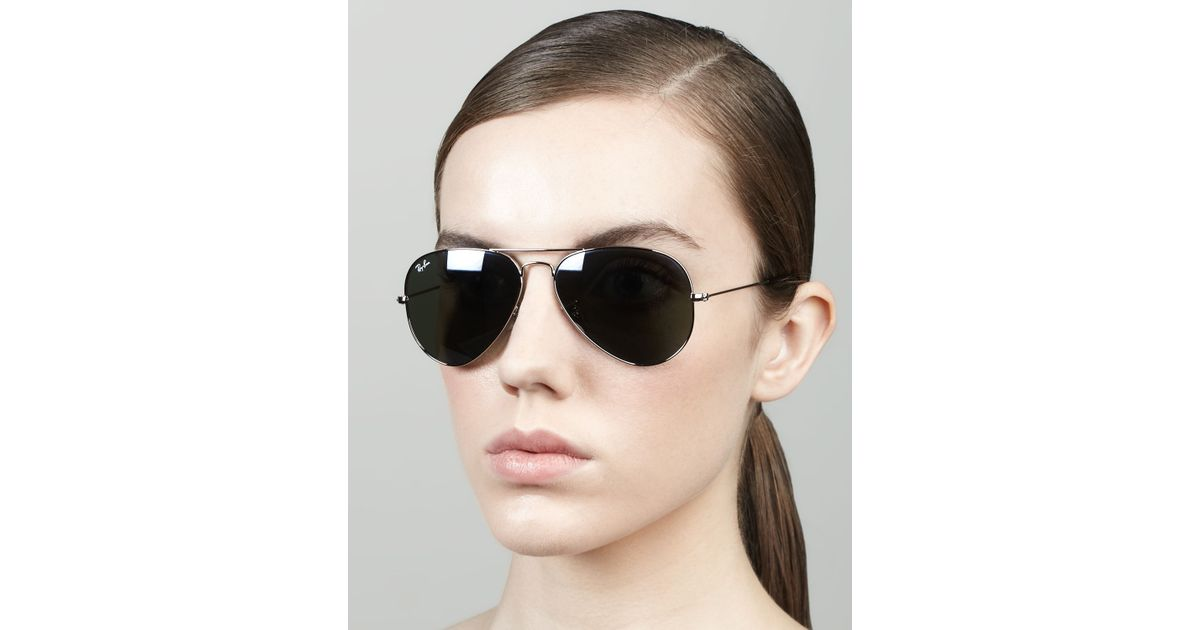 Original Aviator Sunglasses  ray ban original aviator sunglasses in metallic for men lyst
