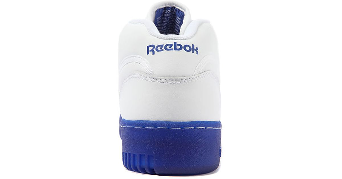 9ca335b16049d4 Lyst - Reebok The Workout Mid Ice Sneaker in White Royal Ice in White for  Men