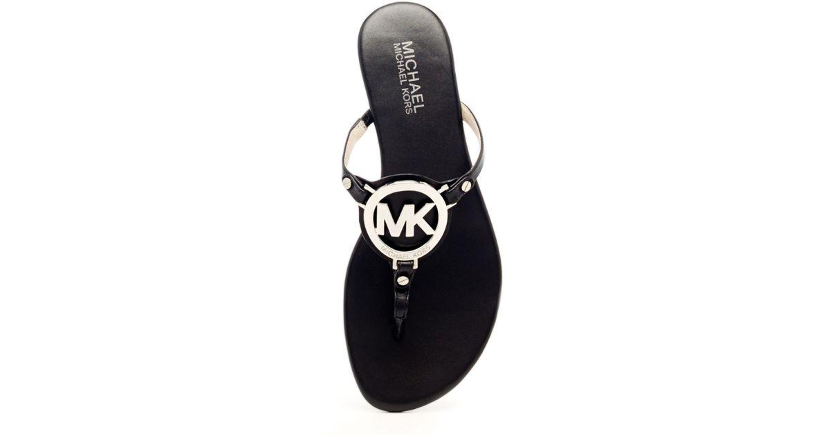 7dcd4945ed55 Lyst - MICHAEL Michael Kors Melodie Logo Thong Sandal in Black