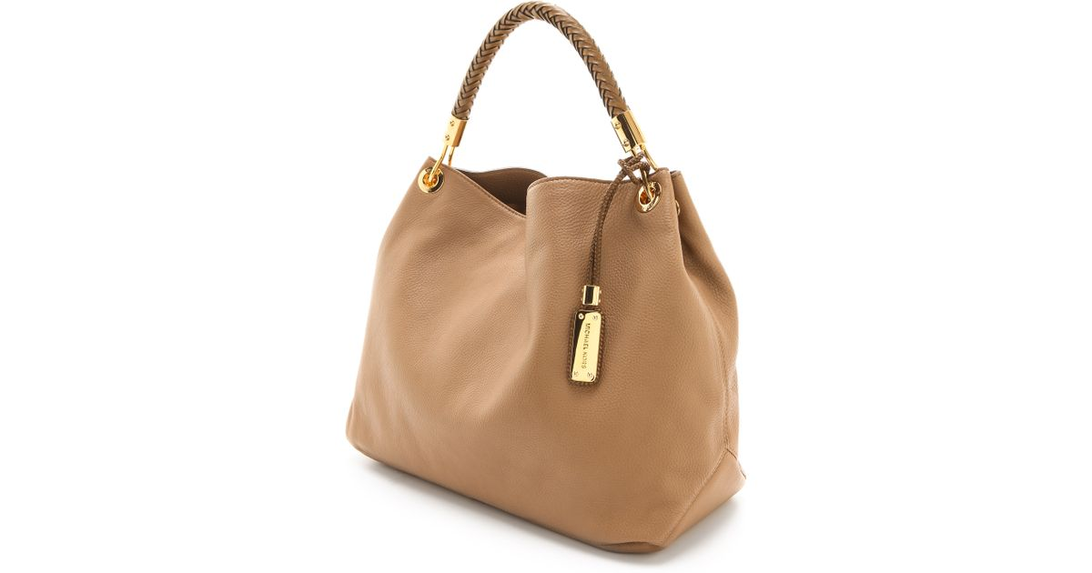 20f07de4e6dd Lyst - Michael Kors Skorpios Large Shoulder Bag in Brown