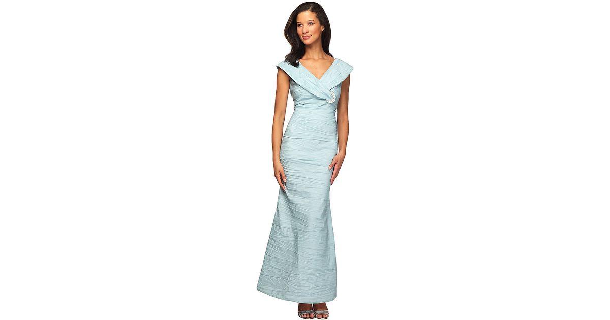 Alex evenings Seafoam Gown in Blue | Lyst