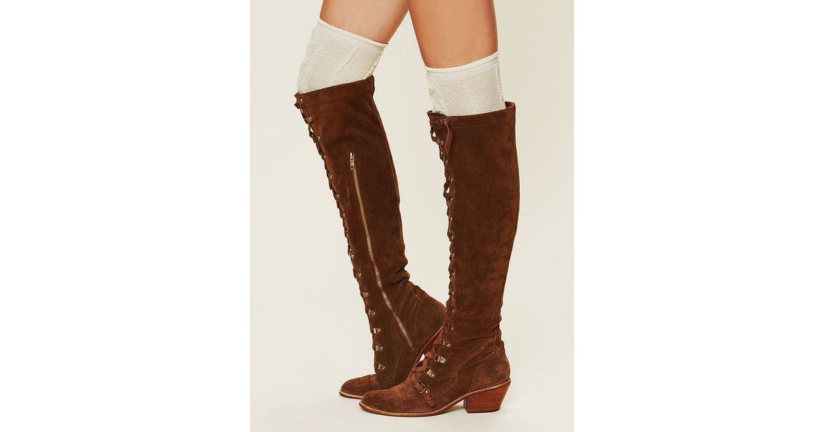 2077ff14f5d Lyst - Jeffrey Campbell Johnny Tall Boot in Brown