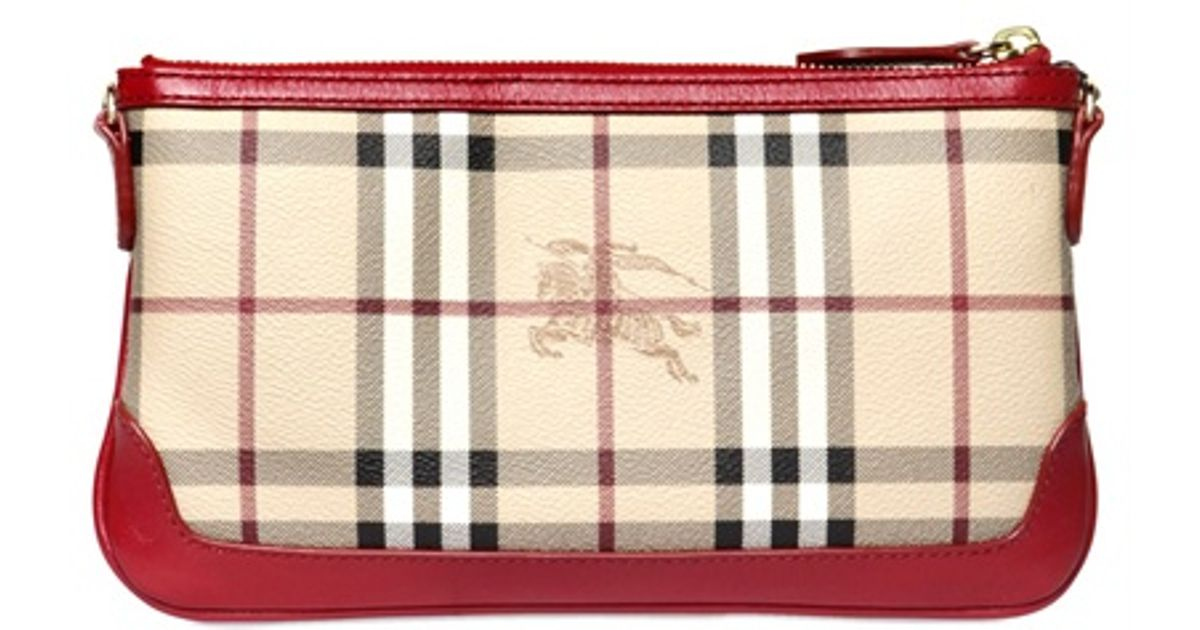 6e716bcd2 Lyst - Burberry Peyton Haymarket Shoulder Bag in Natural