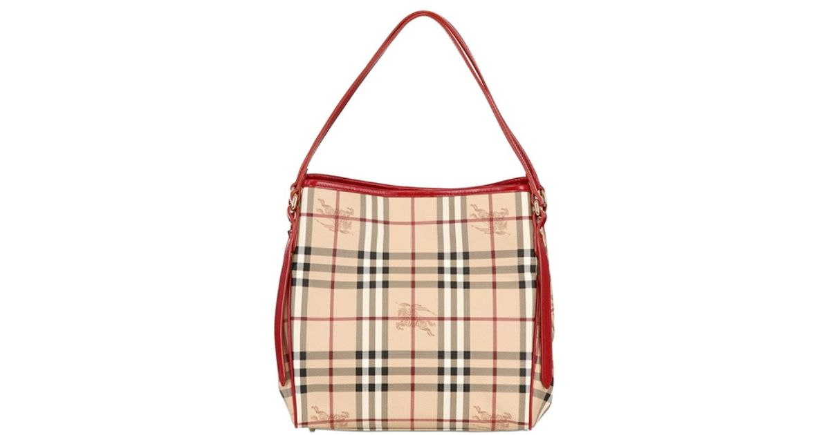 Burberry Small Canterbury Haymarket Bag in Natural - Lyst 666aa58b61cd1