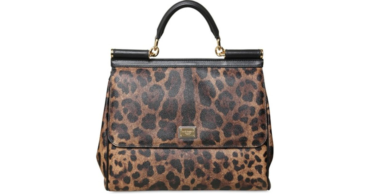Lyst - Dolce   Gabbana Miss Sicily Leopard Print Top Handle Bag db4576a7fcd4d